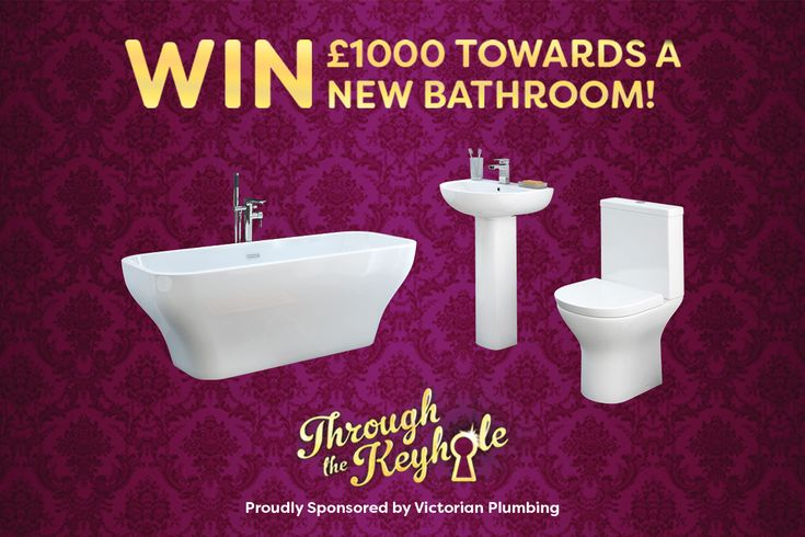 Want to win £1000 towards a brand new bathroom? To celebrate Victorian Plumbing's sponsorship of the new series of Through The Keyhole on ITV we're giving away £1000 to spend on a brand new bathroom.