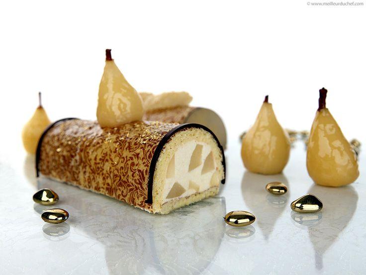 Bûche à la mousse de poire
