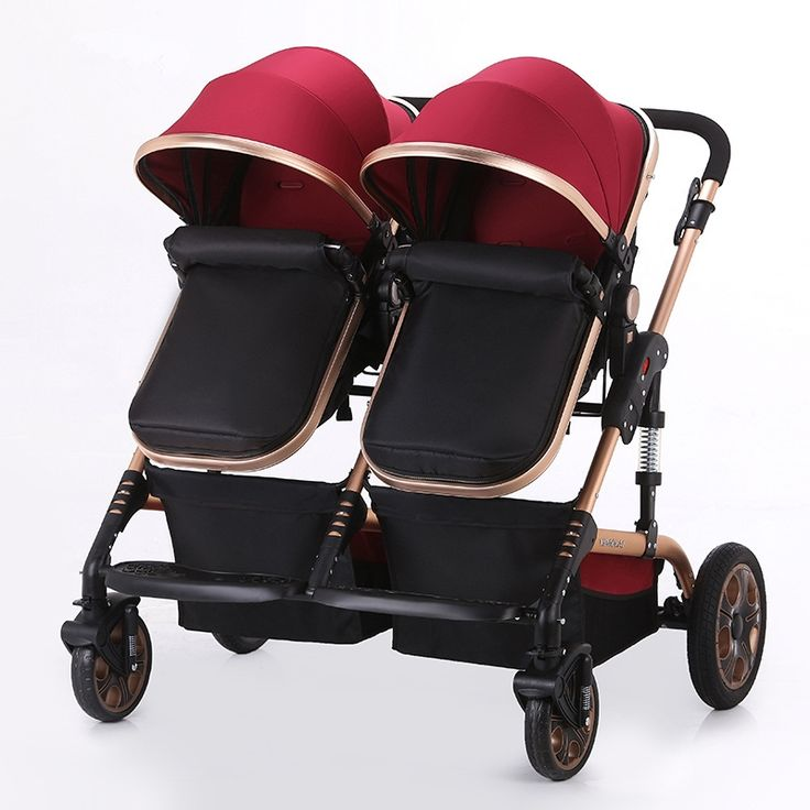 414.00$  Watch now - http://alihdl.worldwells.pw/go.php?t=32725703962 - Baby Stroller for Twins Double Seats Lightweight Umbrella Stroller Folding Twin Stroller Baby Carriage Prams and Pushchairs