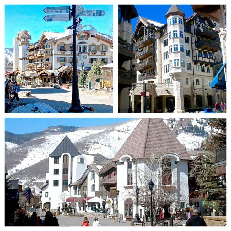 The beautiful architecture of Vail Colorado hotels!