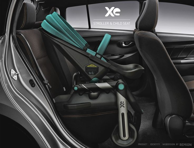 XE Stroller and Child Seat, on the isofix adapter. Car Seat Stroller! Industrial Design by REMION, Budapest