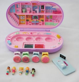 1992 Vintage Polly Pocket Stamping School COMPLETE