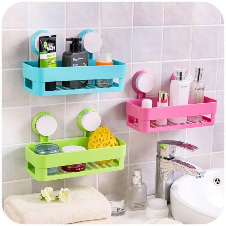 Многоцветный сильный двойной присоски стеллажи, стеллаж для хранения ванная комната, туалет, кухня мусора самолеты SN0111