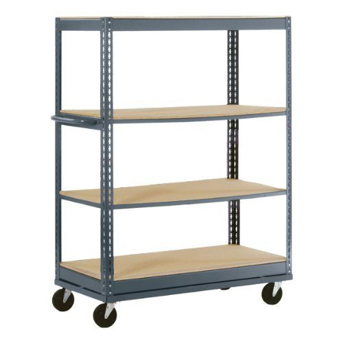 Boltless Mobile Shelf Truck With Four Shelves 36 Quot W X 24