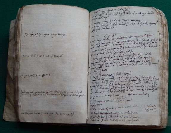 Samuel Ward took running notes as he translated two Apocryphal books from the King James Bible.