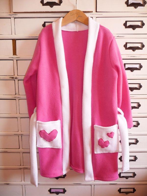 Les 25 meilleures id es de la cat gorie robe de chambre polaire sur pinterest fil pour art de - Patron gratuit robe de chambre femme ...
