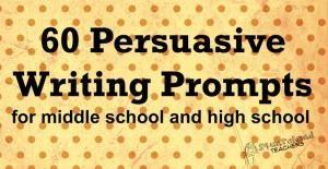 Solicita la escritura persuasiva para la escuela intermedia y secundaria por christi