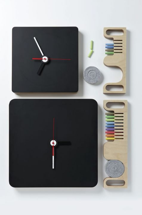 Reloj moderno / analógico / de pared / de madera TABLA by Enrico Azzimonti DIAMANTINI & DOMENICONI