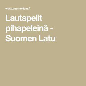 Lautapelit pihapeleinä - Suomen Latu