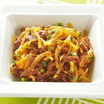 甘みの増した大根が美味「牛肉と大根の細切り炒め」のレシピです。プロの料理家・倉持光江さんによる、牛薄切り肉、大根、大根の葉、長ねぎ、しょうがなどを使った、289Kcalの料理レシピです。
