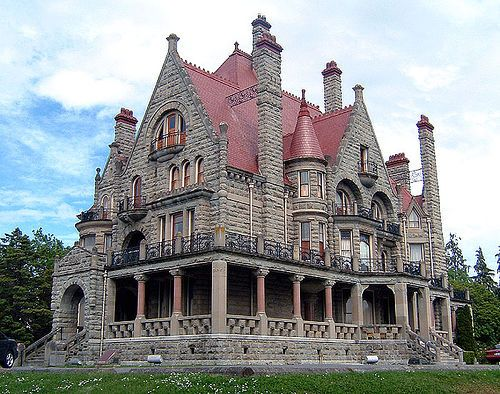 Victoria, British Colombia is amazingly beautiful.  One of its famous landmarks is Craigdarroch Castle, every bit as beautiful inside as out.