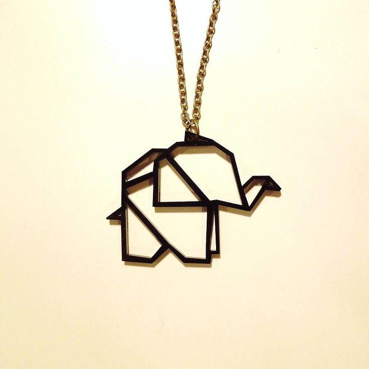 origami elephant pendant necklace by ( q u i e t l y c r e a t i v e ) | notonthehighstreet.com