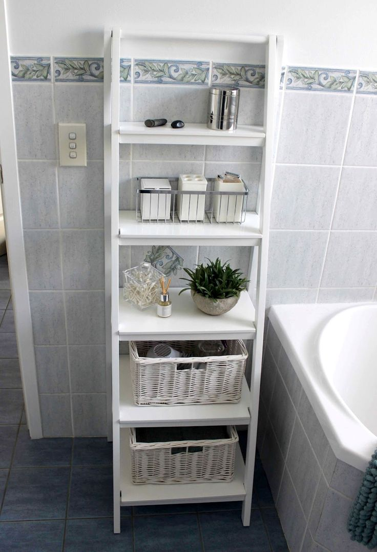 White shelves bathroom - Find This Pin And More On Furniture Bathroom Storage Cabinet
