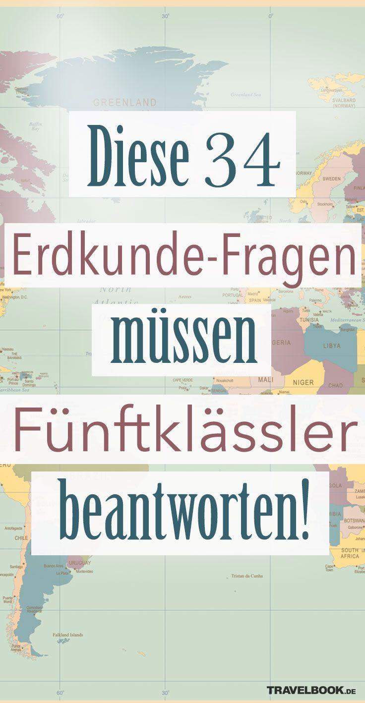 Diese 34 Geografie Fragen Müssen Fünftklässler Beantworten!