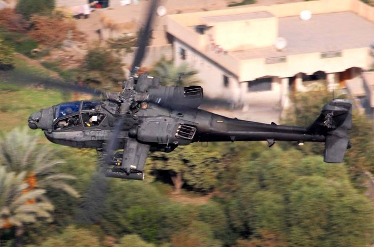 US Army AH-64 Apache attack helicopter.