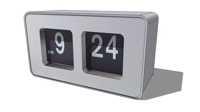 Réveil gris Loft, Maisons du monde. Réf: 143111, Prix: 19,99 € - 3D Warehouse