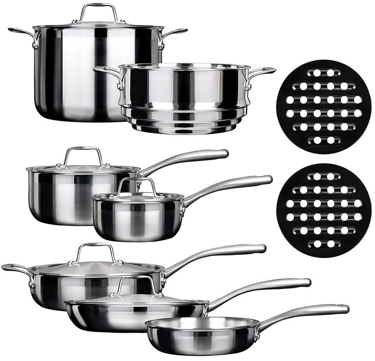 Duxtop SSC-14PC 14 Piece Whole-Clad Tri-Ply Induction Cookware Set, Stainless Steel *** Read more reviews of the product by visiting the link on the image.