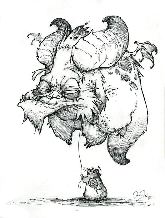"""Monster Drawings In Pencil """"balloon monster"""" - sketchbook ..."""