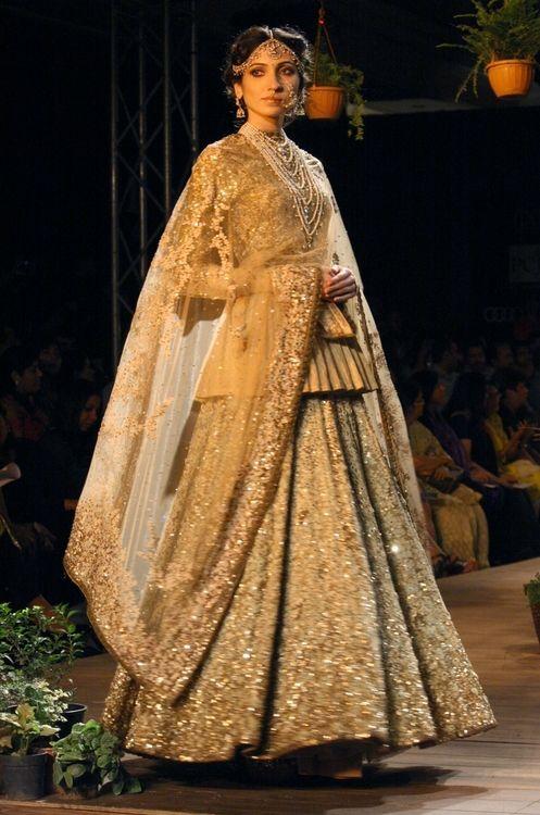 White and Gold Sabyasachi - Delhi Couture Week 2013