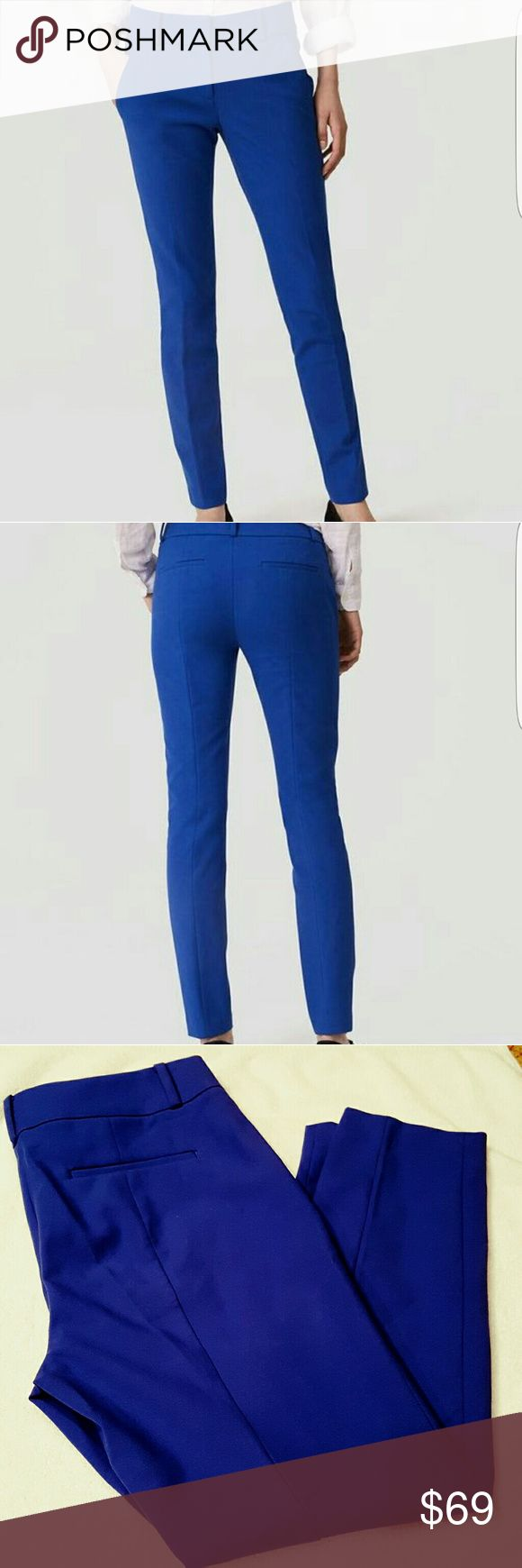 SALE! LOFT Marisa Skinny Ankle Pants Brand new with tags.  Ann Taylor LOFT Colbalt Blue Marisa Skinny Ankle Pants  (This popular Color is sold out on LOFT online) Further Product description in picture 4  No trades. LOFT Pants Ankle & Cropped