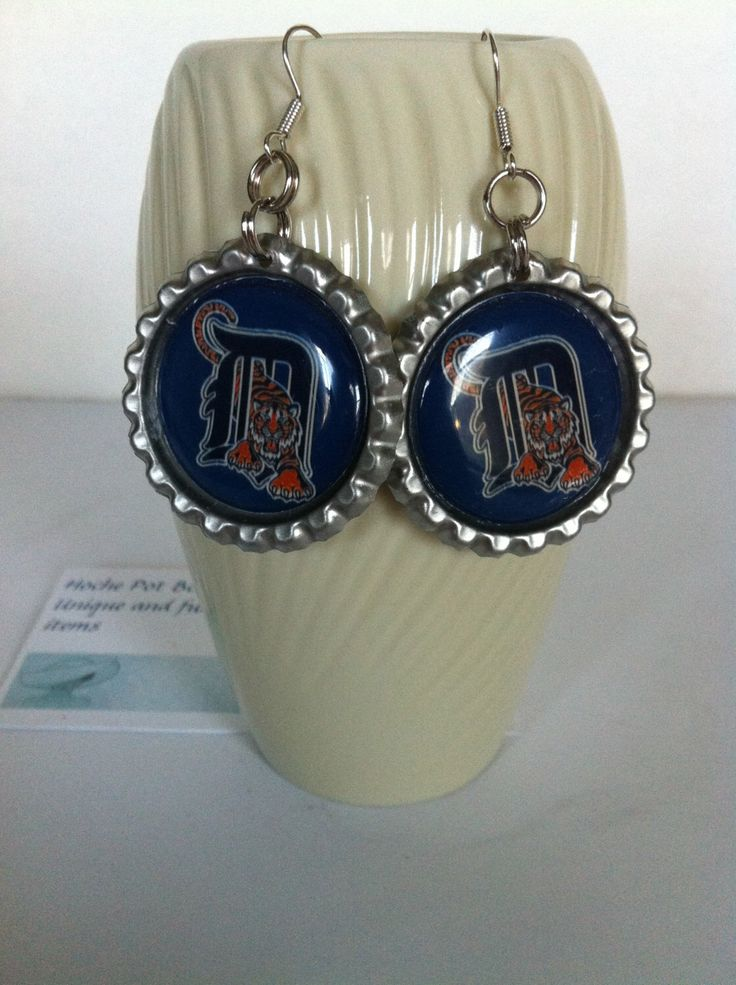 Detroit Tigers baseball earrings from my Etsy shop https://www.etsy.com/listing/231618215/detroit-tigers-baseball-earrings-detroit