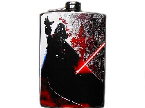 Star Wars Decorated 8oz. Stainless Steel Flask - FN202 . $18.00. This very unique flask is decorated with a durable image on the front only. The flask holds 8oz of your favorite liquor.