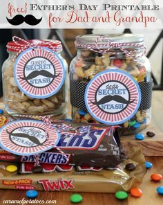 Dad's Secret Stash free Father's Day Printable {for Grandpa too}