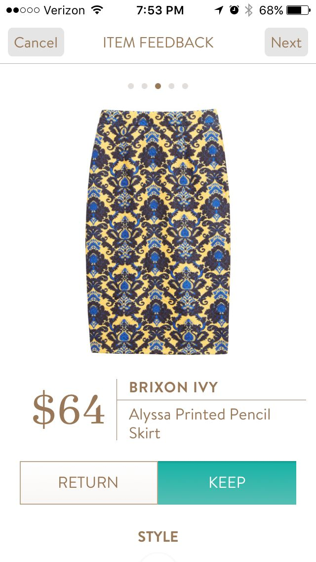 Brixon Ivy Alyssa Printed Pencil Skirt