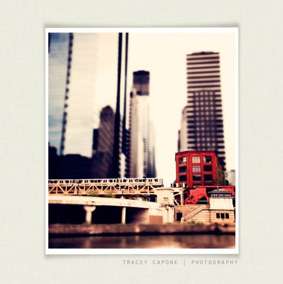 Chicago Train Art Select focus photo of train in by TraceyCapone