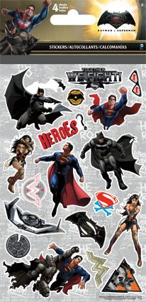 Batman vs. Superman stickers make great party favors. Fill your treat bags or boxes with these awesome stickers and let your guests go wild. Your little friends will love them for sure =) • Each pack