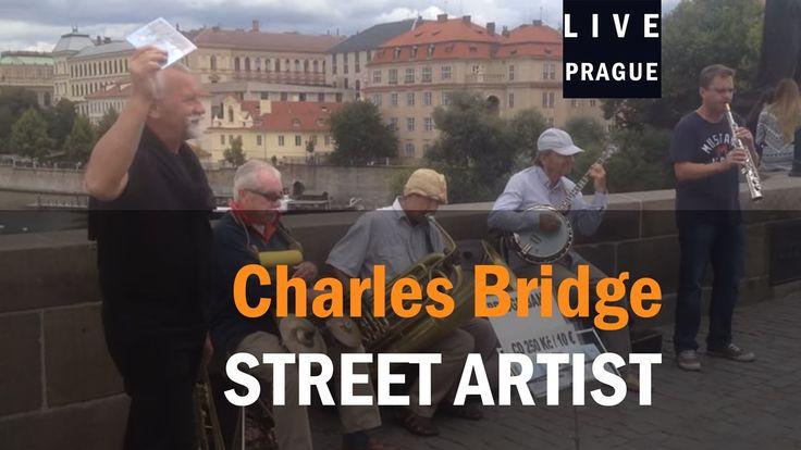 Street Artist Prague - BRIDGE BAND - Jazz band performs , Singer, clarin...