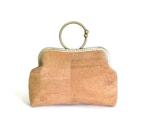 Cork Handbag  Eco Friendly Bag Genuine Cork Purse by MyCottonHouse
