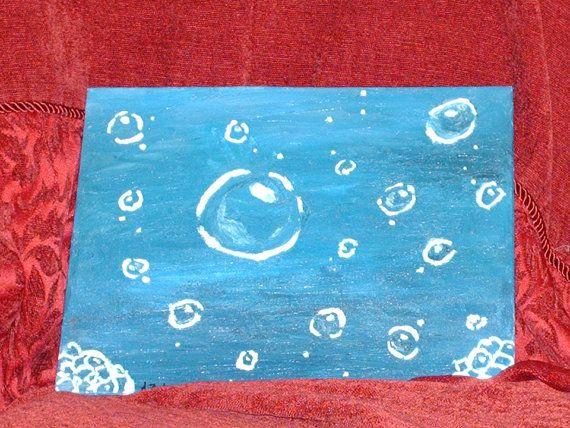 Tiny Bubbles. a 8 x 10 inch acrylic painting by CelestialStudio13, $59.39