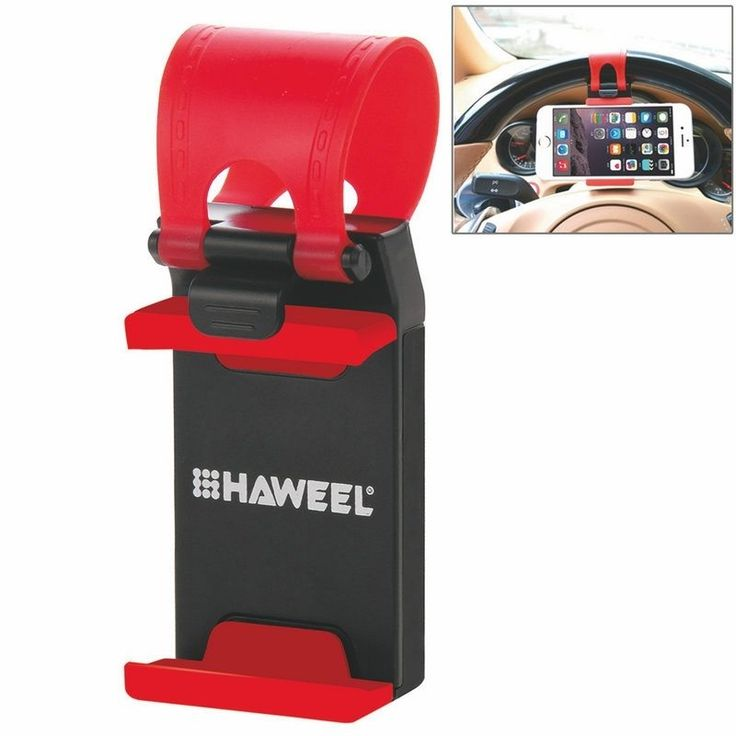 Haweel Phone Stand Mount Universal Car Steering Wheel Clip Mount Holder for iPhone 7 Plus Samsung Mobile Phone GPS, 5.5-8.6cm //Price: $4.44//     #shop