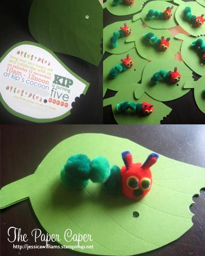 very hungry caterpillar invite http://www.stampinup.net/esuite/home/jessicawilliams/blog