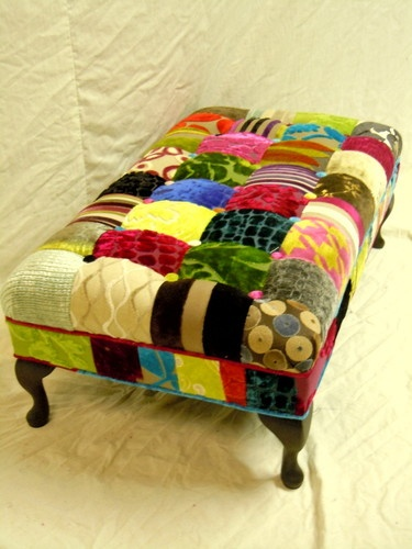 Jewel coloured Patch work stool :O)