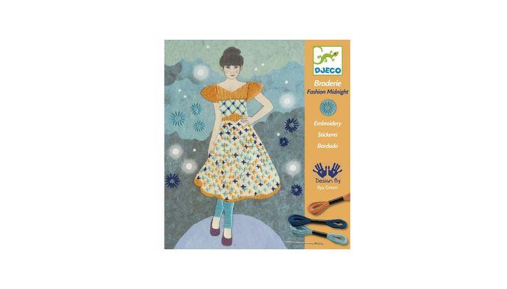 Fashion midnight varró, hímző készlet 8-14 éves korig - Djeco design by