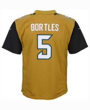 Nike Blake Bortles Jacksonville Jaguars Color Rush Jersey, Big Boys (8-20), Big Boys (8-20) - Gold