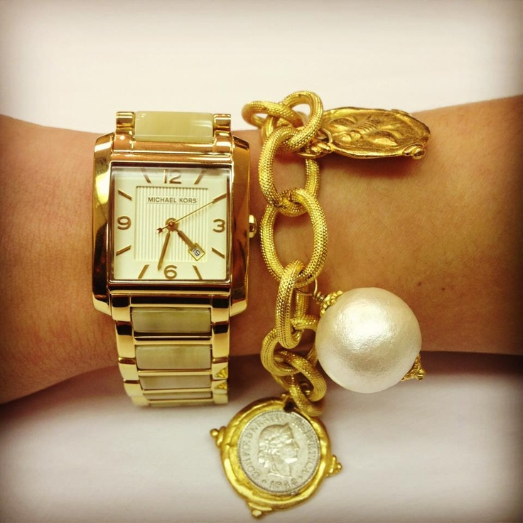 ARM PARTY with Michael Kors 4251 and Susan Shaw Bracelet