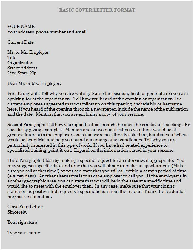 cover letter examples 2 - How To Write A Cover Letter For A Resume