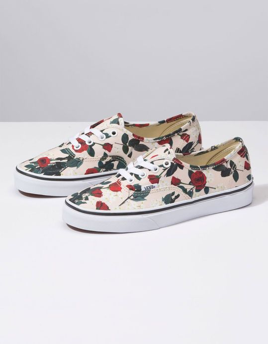 8106ab87bf VANS Authentic Roses Womens Shoes - TAN - 334073412