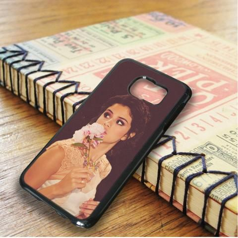 Selena Gomez Flower Singer Samsung Galaxy S6 Edge Case