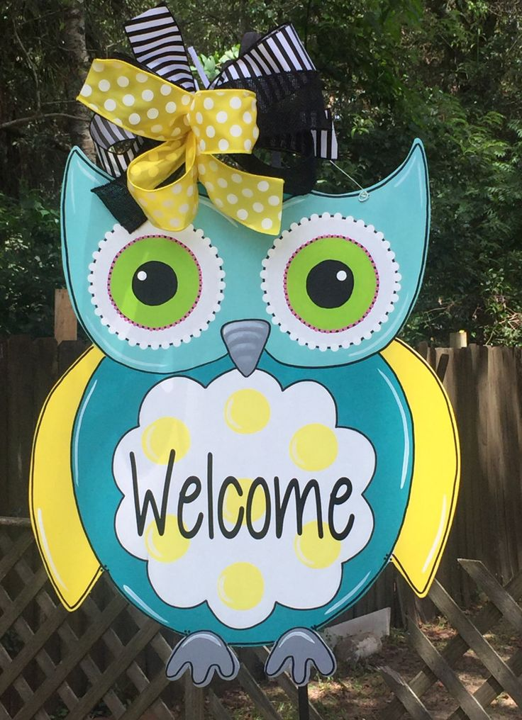 Owl Door Hanger, Teacher Door Hanger, Back To School, Classroom Theme, Spring Door Hanger, Summer Door Hanger, Childs Room by…