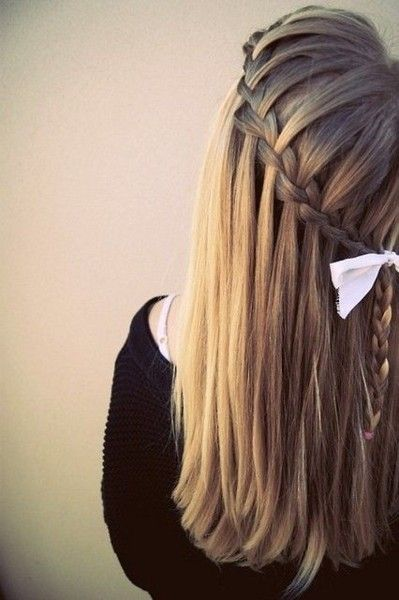waterfall braid!: Hair Ideas, Hairstyles, Waterfalls, Hair Styles, Color, Makeup, Waterfallbraids, Waterfall Braids, Beauty