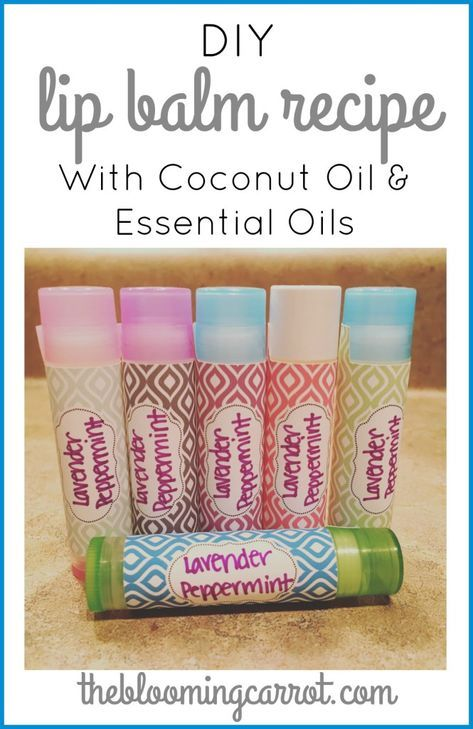DIY Coconut Oil Lip Balm – Infused with Essential …