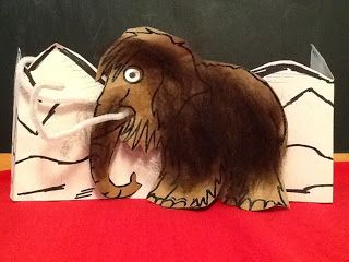 Woolly mammoth art idea stone age to iron age ks2
