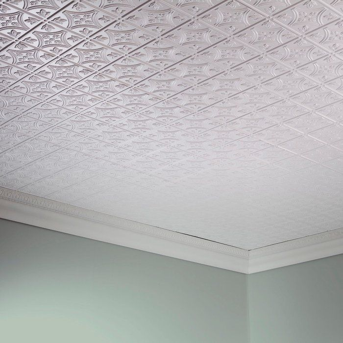 Traditional 1 2 Ft X 4 Ft Glue Up Ceiling Tile In Matte White Ceiling Tile Tin Ceiling Ceiling Tiles