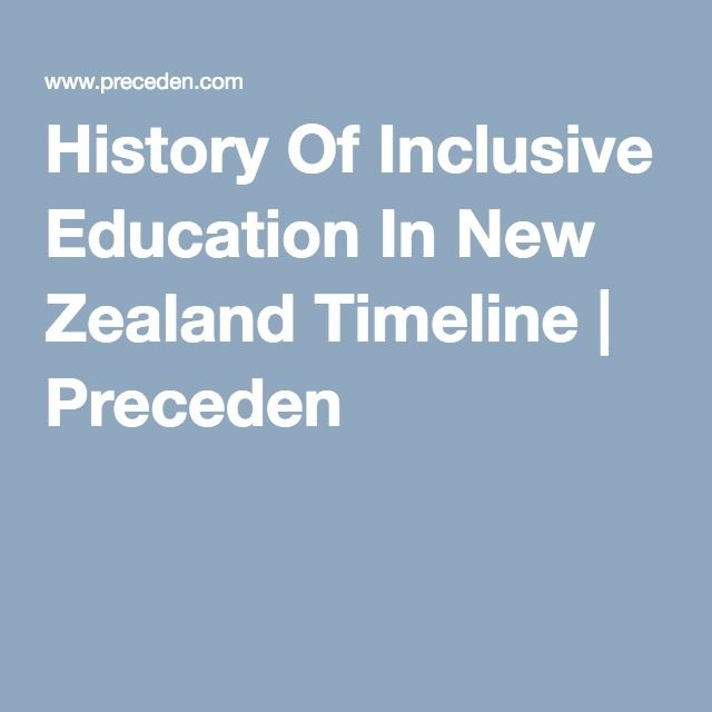 History Of Inclusive Education In New Zealand Timeline | Preceden
