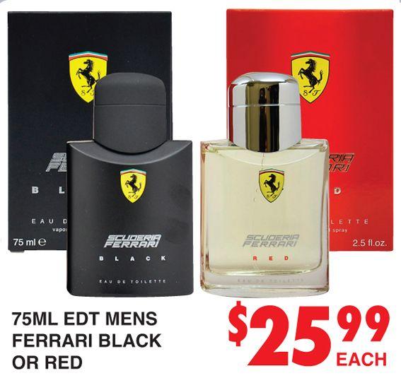 Perfume Ferrari Black or Red http://dimmeys.com.au