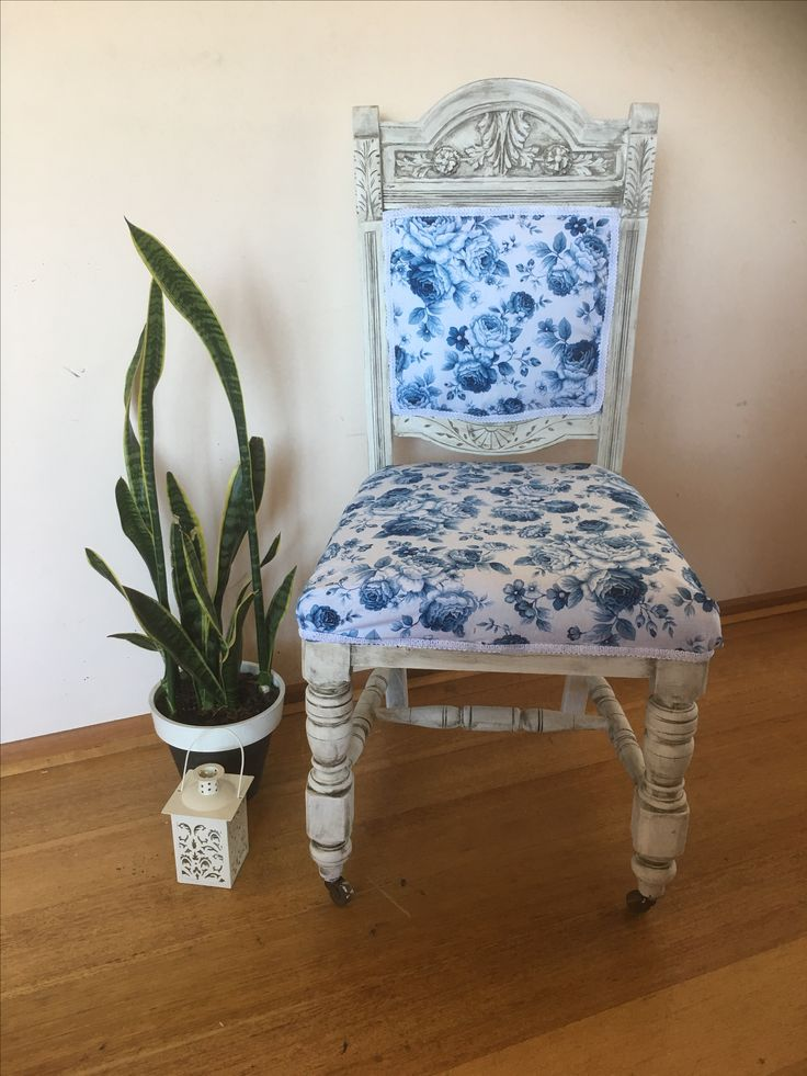 Gorgeous chair given a new life Antique chair Reupholstered